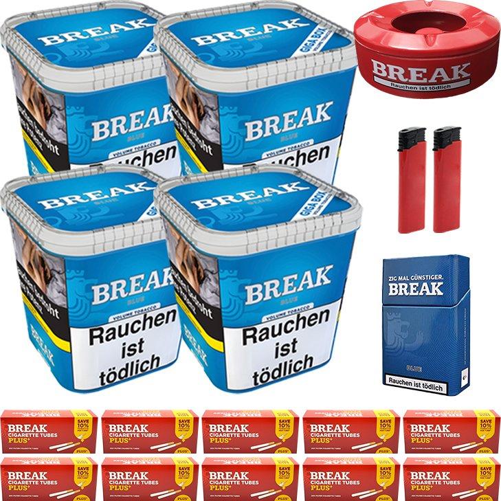 Break Blue 4 x 230g mit 2000 Plus Hülsen