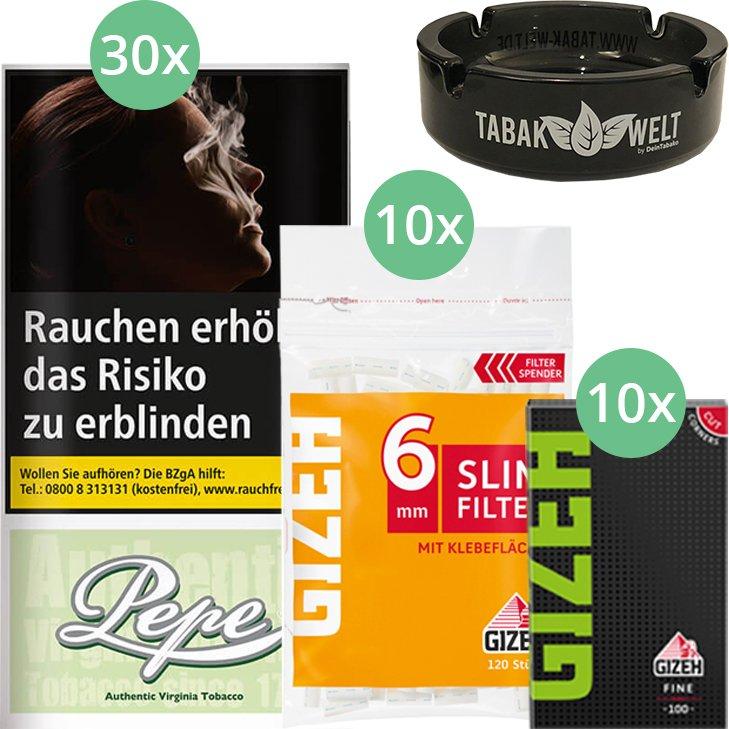 Pepe Bright Green 30 x 30g mit Gizeh Blättchen und Filter