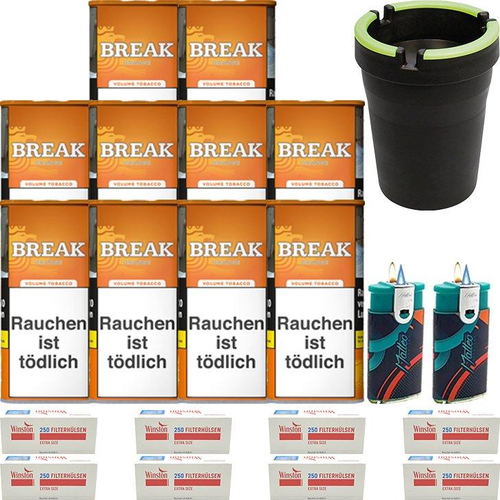 Break Orange 10 x 110g mit 2000 Special Size Hülsen