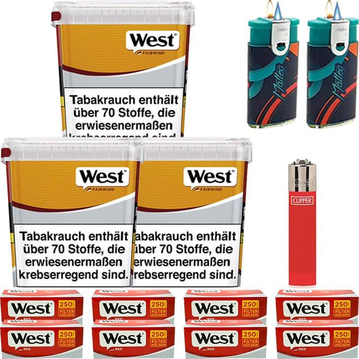 West Yellow Fairwind 3 x 310g mit 2000 Special Size Hülsen