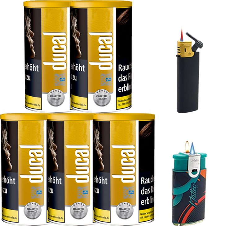 Ducal Gold 5 x 200g mit Feuerzeugen