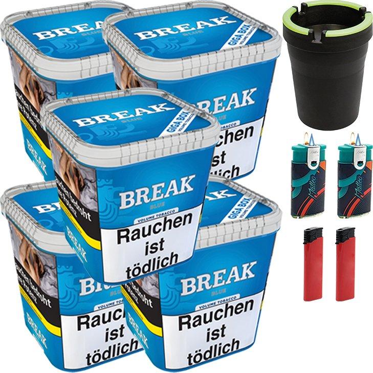 Break Blue 5 x 230g mit Aschenbecher