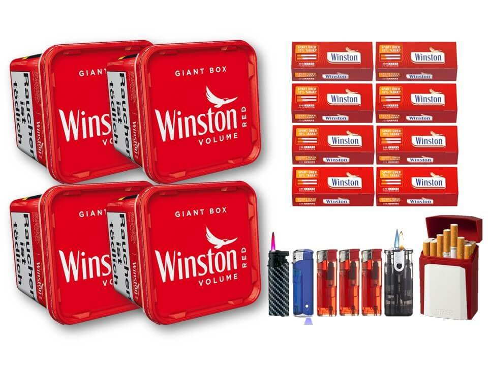 Winston Giant Box 4 x 260g mit 2000 Extra Size Filterhülsen