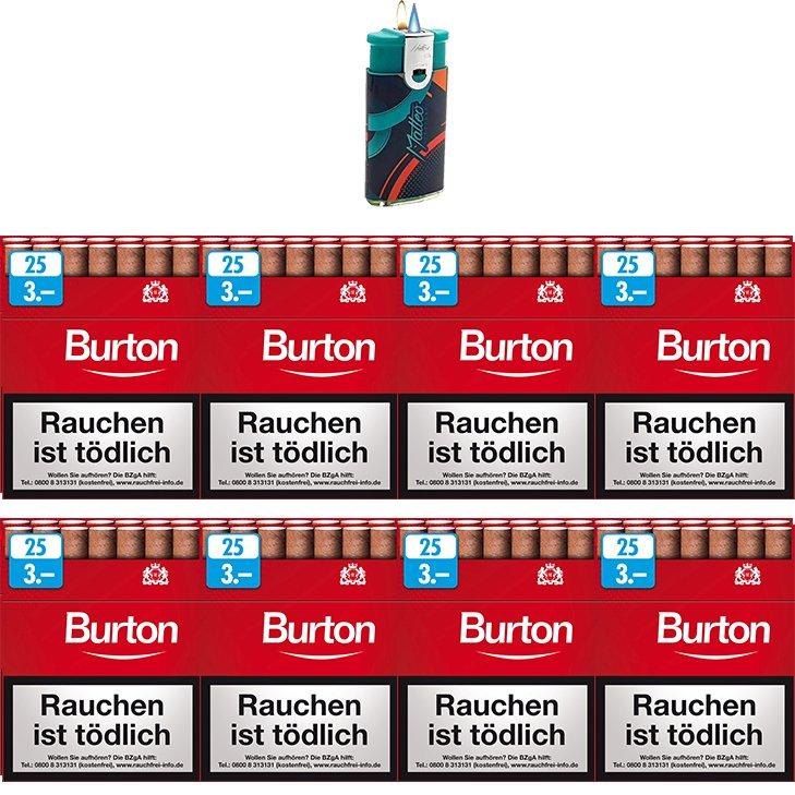 Burton Original Zigarillos mit Filter (2 Stangen) 16 x 25 Stück