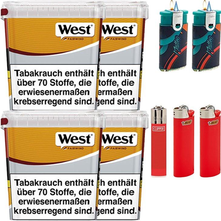 West Yellow Fairwind 4 x 310g mit Feuerzeugen