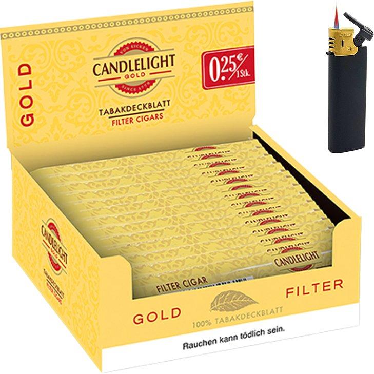 Candlelight Gold 1 x 50 Zigarren mit Sturmfeuerzeug